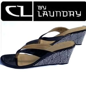 CL by Laundry Tawny Wedge Slide NWOT Sz 6.5